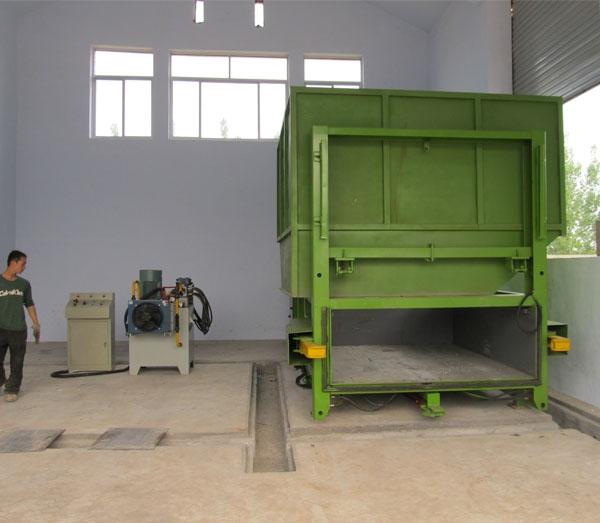 侧部平台上投料垃圾压缩设备厂